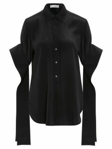 JW Anderson ROUND HEM EXAGGERATED SLEEVE SHIRT - Black