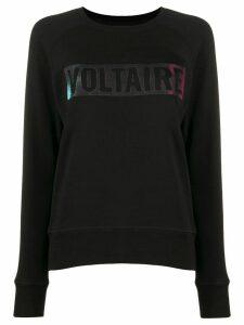 Zadig & Voltaire Massy logo stamp sweatshirt - Black