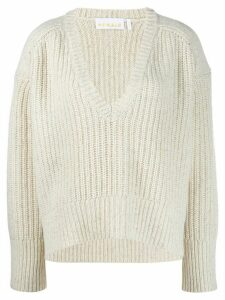 Remain oversized V-neck jumper - NEUTRALS