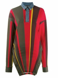 Diesel Red Tag fabric contrast shirt