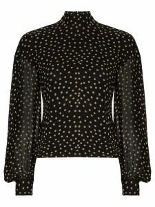 GANNI polka-dot print blouse - Black
