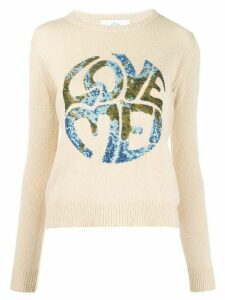 Alberta Ferretti Love Me knitted jumper - NEUTRALS
