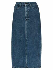 3x1 Cami side-split denim midi skirt - Blue