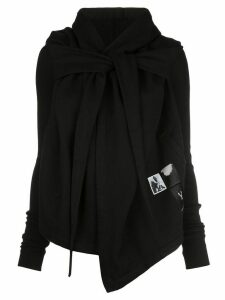 Rick Owens DRKSHDW cropped wrap hoodie - Black
