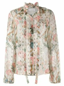 Chloé floral print blouse - White