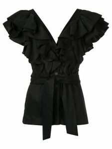 Manning Cartell ruffle sleeve blouse - Black