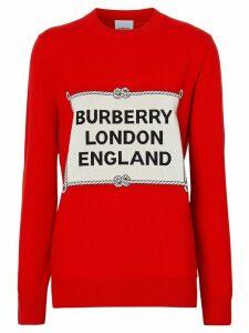 Burberry Rigging intarsia jumper - Red