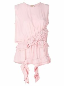 Marni frill asymmetrical top - PINK