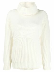 Pinko ribbed turtleneck jumper - White