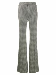Tom Ford houndstooth knitted flared trousers - Black