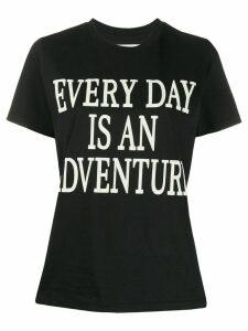 Alberta Ferretti Every Day Is An Adventure print T-shirt - Black