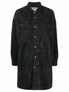 Diesel strass denim shirt dress - Black