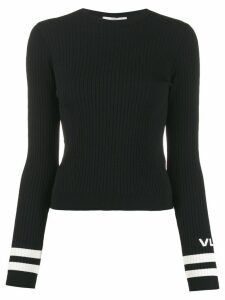 Valentino VLOGO ribbed crew neck jumper - Black