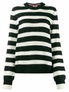 Tommy Hilfiger striped crew-neck jumper - Black