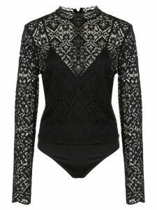 Jonathan Simkhai floral lace body - Black
