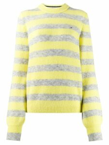 Tommy Hilfiger striped crew-neck jumper - Yellow