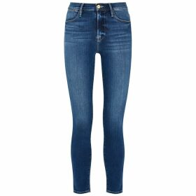 Frame Denim Le High Dark Blue Skinny Jeans