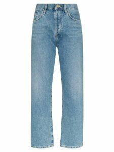 GOLDSIGN high-rise straight leg jeans - Blue