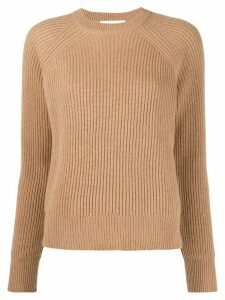 Remain ribbed knit crewneck jumper - NEUTRALS