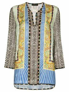 Etro patterned kaftan blouse - Blue
