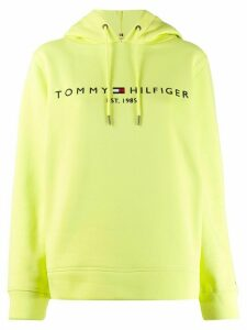 Tommy Hilfiger embroidered logo hoodie - Yellow