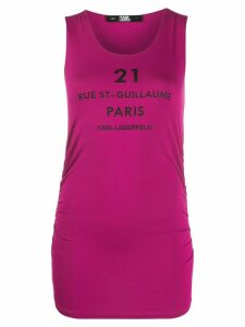 Karl Lagerfeld Rue St-Guillaume tank top - PINK