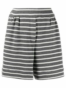 Brunello Cucinelli striped jersey shorts - Grey