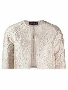 Talbot Runhof Nununu cropped jacket - NEUTRALS