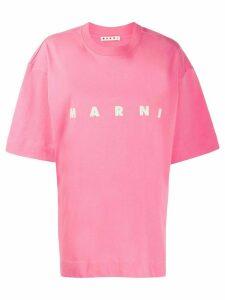Marni logo print T-shirt - PINK
