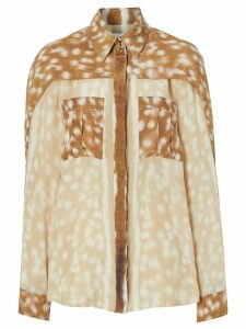 Burberry deer print shirt - Brown