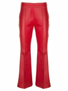Rosetta Getty cropped flared leather trousers