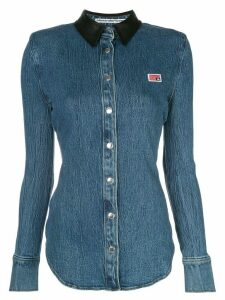 Alexander Wang long sleeve slim-fit denim shirt - Blue