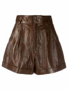 Manokhi wide leg shorts - Brown