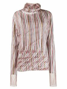 Y/Project striped double-layered top - PINK