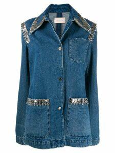 Christopher Kane chain denim jacket - Blue
