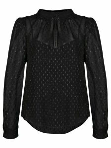 Veronica Beard metallic print blouse - Black