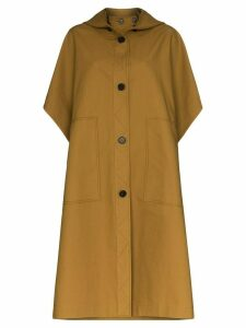 LVIR hooded cotton trench coat - Brown