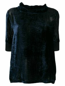 Fabiana Filippi velvet turtle neck blouse - Blue
