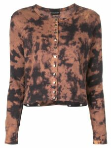 Callipygian Tie-dye loose-fit cardigan - Brown