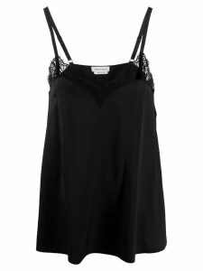 Alexander McQueen lace trimmed camisole top - Black