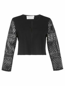 Carolina Herrera cropped crocheted cardigan - Black