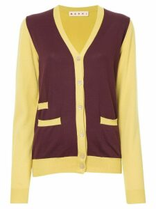 Marni colour block longline cardigan - Yellow