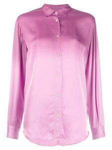 Forte Forte textured curved hem blouse - PINK