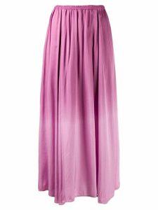 Forte Forte gradient pleated midi skirt - PINK