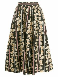 Forte Forte floral print pleated skirt - Black