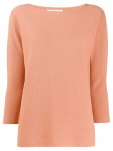 Fabiana Filippi boat neck jumper - ORANGE