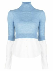 Veronica Beard Nina layered slim-fit jumper - Blue