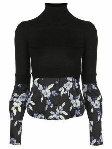 Veronica Beard Nina layered slim-fit jumper - Black