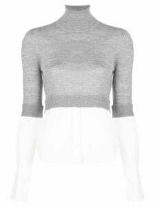 Veronica Beard Nina layered slim-fit jumper - Grey