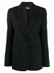 Karl Lagerfeld tailored Piquet jacket - Black